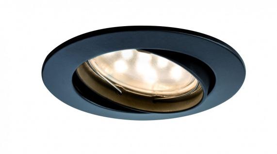 Paulmann Premium Einbauleuchte Set Coin klar rund schwenkbar LED 3x6, 8W 2700K 230V 51mm Schw.m./Alu Zink