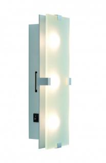 Paulmann 702.78 WallCeiling Xeta WL LED 7, 5W 320x100mm Chrom matt 230V Metall/Glas
