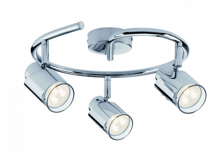 601.80 Paulmann Deckenleuchten Spotlight Futura LED Twister 3x3, 5W GU10 Chrom 230V Metall