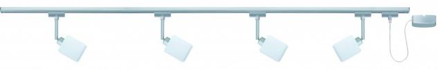 Paulmann URail Schienensystem Quad 4x9W GZ10 Chrom matt 230V Metall/Glas
