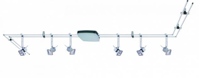 972.31 Paulmann 12V Rail Set Rail System Spice Cumin 210 6x35W GU5, 3 Chrom matt 230/12V 2x105VA Metall