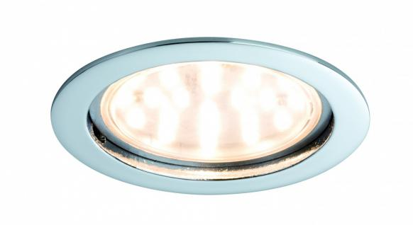 Premium EBL Set Coin klar rund starr LED 1x14W 2700K 230V 75mm Chrom/Alu Zink
