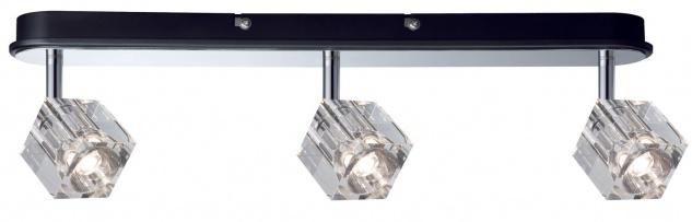 Paulmann 601.68 Spotlights IceCube LED Balken 3x3W Chrom 230V Metall/Glas
