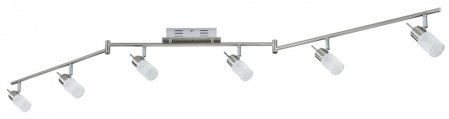 Paulmann 665.62 Spotlights ZyLed Stange 6x3W Eisen gebürstet 230V/12V Metall/Glas - Vorschau 2