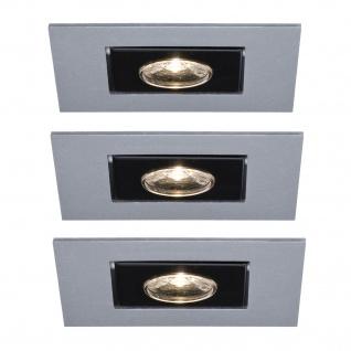 Paulmann Premium Einbauleuchte Set Cardano LED 3x(1x1W) 230V Chrom matt/Alu