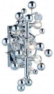 794.89 Paulmann Wandleuchten Living Sfera Wandleuchte 5x10W G4 Chrom transparent 230V/12V Metall/Glas