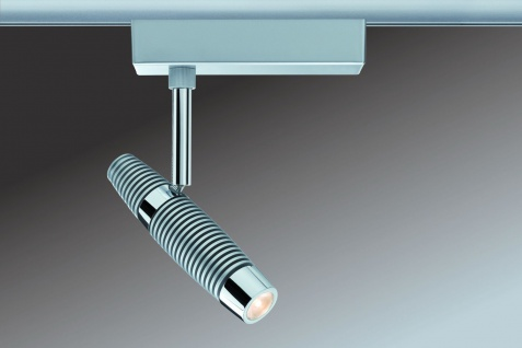 URail System Light&Easy Spot Channel 1x10W Chrom matt/Chrom 230V Metall