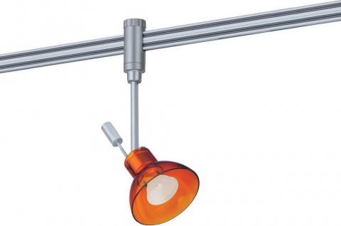 975.74 Paulmann Phantom Spot Zaretti 50W GZ10 Chrom matt / Orange transparent