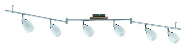 Paulmann Spotlights Wolba Stange 6x7W GU10 230V Chrom Holz/Glas