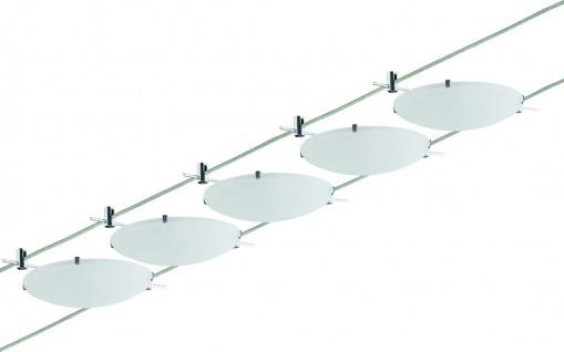940.64 Paulmann Seil Komplett Set Wire System Cup 5x20W G4 Chrom 230/12V 105VA Metall/Glas