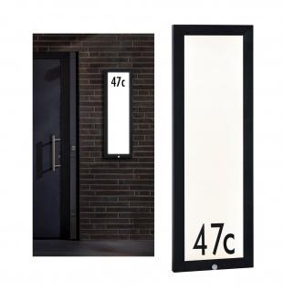 Paulmann Aussenleuchte 230V Panel 30*90cm Hausnummer IP44 4W 1200lm Bewegungsmelder Anthrazit