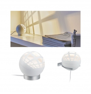 Paulmann Favia Tischleuchte LED 1x5W Weiß 230/12V Kunststoff