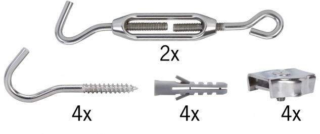 Paulmann Wire System Light&Easy Spann-Montageset nicht isoliert Verzinnt Metall
