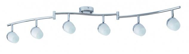 7x5W LED Deckenleuchten Theta GU10 230V Warmweiß Chrom/Weiß Metall/Glas