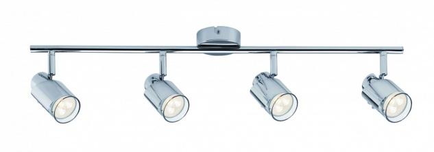 601.81 Paulmann Deckenleuchten Spotlight Futura LED Stange 4x3, 5W GU10 Chrom 230V Metall