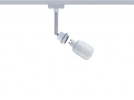 Paulmann 950.23 URail Schienensystem DecoSystems Energiesparlampe Spot 1x9W GU10 Weiß 230V Metall
