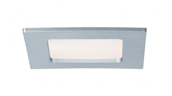 Paulmann 920.79 Quality Einbauleuchte Set Panel eckig LED 1x6W 2700K 230V 115x115mm Chrom matt/Kunststoff