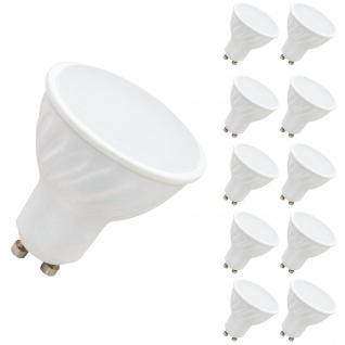 10er Set LED Leuchtmittel 7W GU10 4000K Neutralweiss 230V 520lm Weiß