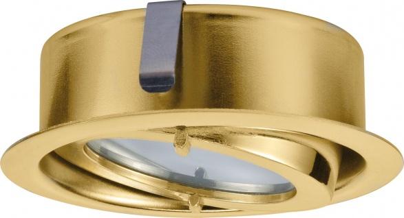 Paulmann Möbel Einbauleuchte Dress schwenkbar max.20W 12V G4 70mm Gold/Alu