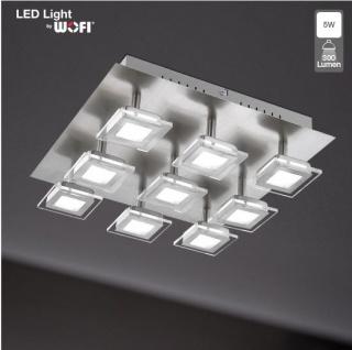 Wofi 9197.09.64.0000 Deckenleuchte Cholet 9 flg. LED 9 x 5 W 3.000 K 2.700 lm Nickel-matt - Vorschau 2