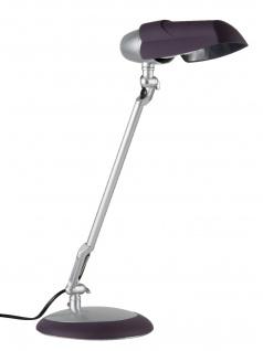 Paulmann Table&Desk Hood Schreibtischl 20W Energiesparlampe Purple/Chrom matt 230V Softlack/Kunststoff/Metall