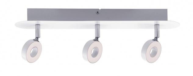 Paulmann 603.71 Spotlight Cycle LED 3x4, 3W Weiß/Chrom 230V Metall