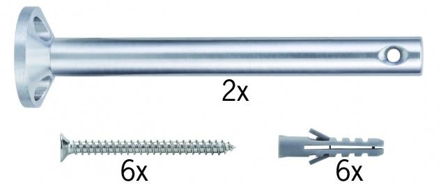 Paulmann Wire System L&E Umlenker/Abhängung zum Aufschrauben 1 Paar 165mm Chrom Met
