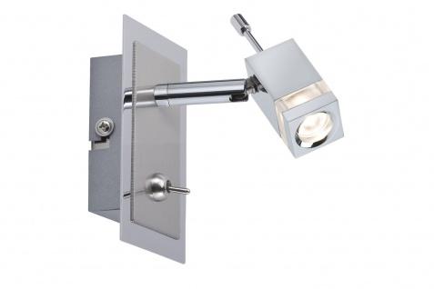 600.25 Paulmann Wandleuchten Spotlight Quadro LED Balken 1x3W 230V/6V DC350 Chrom Metall