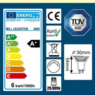 6402 LED Leuchtmittel GU10 6W 100°Abstrahlwinkel 3Step dimmbar warm weiss 480 Lumen 3 Helligkeit: 100/50/10% - Vorschau 5