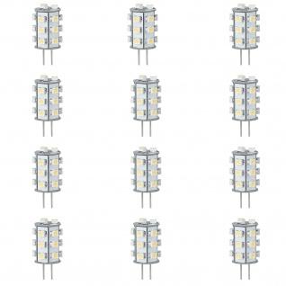 12x LED Leuchtmittel NV-Stiftsockel rundum 1W G4 Warmweiß 2700K - Vorschau 1