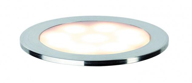 Paulmann Special Einbauleuchte Set Allround rund IP67 LED 2700K 3x0, 7W 3, 6VA 230/12V 45mm satiniert/Kunststoff/Edelstahl