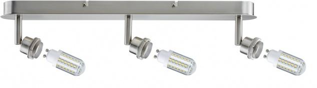 Paulmann 603.12 Spotlights DecoSystems LED Balken 3x3W GZ10 230V Eisen gebürstet Metall