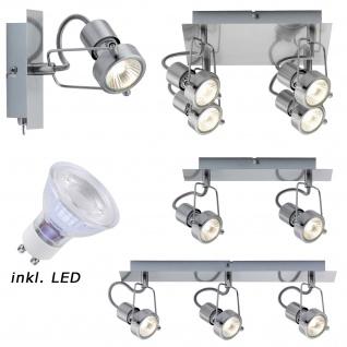 LED 5W 3000 Kelvin 380 LumenPaulmann Wandleuchten 66515 Spotlight Balken Techno II GU10 Eisen gebürstet 230V Metall