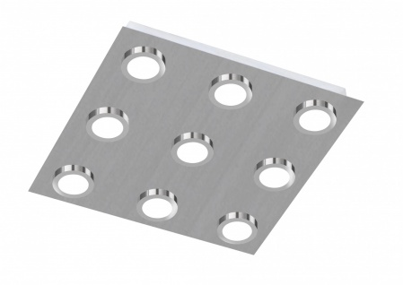 987109640000 Action Deckenlampe Veneta LED Deckenleuchte 9 x 3 W 3.000 K 1.890 Lumen Nickel matt