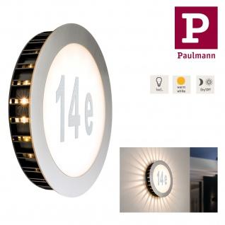Paulmann 937.91 Special Hausnummernleuchte Sunset IP44 LED 1x5, 6W 230V 260mm Edelstahl/Weiß