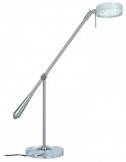 770.51 Paulmann Tischleuchten Schreibtischleuchte Disc LED 1x3, 7W 12V Metall/Acryl - Eisen gebürstet/Klar