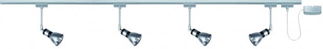 Paulmann URail Schienensystem Set Amfortas 4x42W G9 Titan/Alu 230V Metall