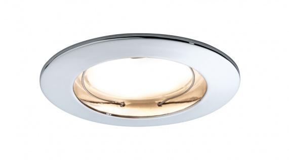 Paulmann 928.28 Premium Einbauleuchte Set Coin dimmbar satiniert rund st LED 1x7W 2700K 230V 51mm Chrom/Alu Zink