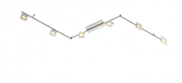 ETT 50167 Deckenleuchte Cholet 6 flg. LED 30 W 3.000 K 1.800 lm Nickel-matt