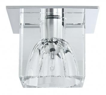 Paulmann 920.18 Quality Einbauleuchte Set Glassy Cube 3x10W 60VA 230/12V G4 83/83mm Klar/Chrom Glas/Metall