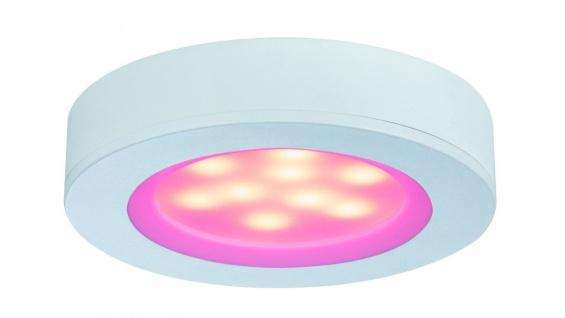 Möbel ABL Set Platy rund RGB inkl. FB 3x1W 7, 5VA 230/12V 70mm Ws matt/ Polycar