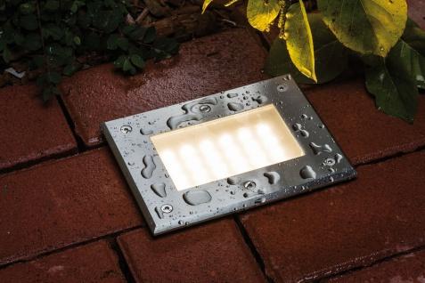 Paulmann 937.96 Special Einbauleuchte Set Boden IP67 LED 2, 5W 2700K 230V 185x136mm Edelstahl/Metall - Vorschau 2
