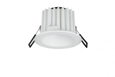 Paulmann Premium Einbauleuchte Helia IP65 rund starr LED 1x12, 6W 1, 4A 115mm Weiß matt Alu Acryl