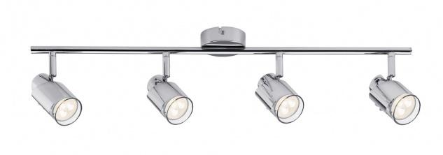 Paulmann 601.81 Spotlight Futura LED Stange 4x3, 5W GU10 Chrom 230V Metall