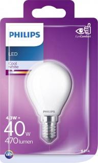 8718699648404 Philips Tropfenform 4, 3 W LED, (40 W), E14, kaltweiß, nicht dimmbar, Tropfenform