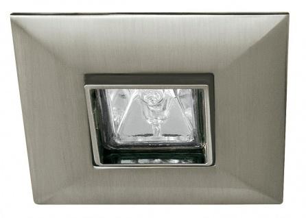 Paulmann Premium Einbauleuchte Set schwenkbar Quadro 6x35W 2x105VA 230/12V GU5, 3 90mm Eisen gebürstet/Alu Zink