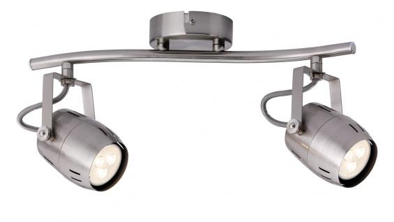 Paulmann 602.86 Spotlight Gamma LED 2x3, 5W GU10 230V Nickel gebürstet Metall