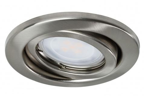 Nice Price Basic Einbauleuchte Set schwenkbar LED 3x2, 6W 230V GU10 51mm Eisen gebürstet/Metall