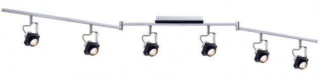 Paulmann 602.59 Spotlight Phase Stange 6x5W Schwarz Chrom 230V Metall