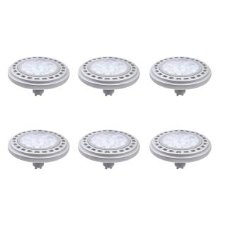 6er Set LED Leuchtmittel 12W GU10 3000K Warmweiss 230V 900lm Chrom matt